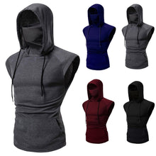 Load image into Gallery viewer, Masked Sports Hooded Sleeveless Shirt