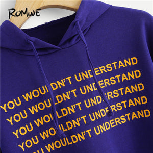 You Wouldn't Understand Cropped Hoodie