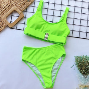 Sexy High Waist Bikini 2 Piece
