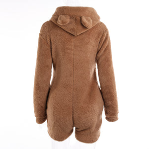 Cute Teddy Bear Romper Pajamas