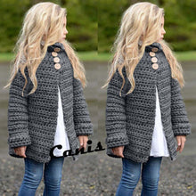 Load image into Gallery viewer, Toddler Girls Long Sleeve Solid Button Knitted Sweater Cardigan