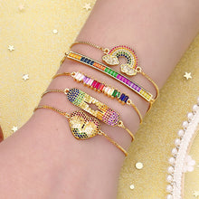 Load image into Gallery viewer, rainbow gold bracelets bangles