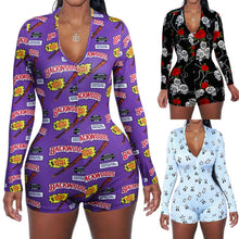 Load image into Gallery viewer, Women Sexy Low Cut Novelty Party Print Bodycon