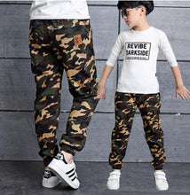 Load image into Gallery viewer, Boys Camouflage Jogger Casual Cargo Pants