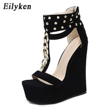 Load image into Gallery viewer, New Gladiator Women Chain Platform Wedges