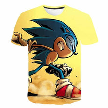 Load image into Gallery viewer, 3D Mario sonic the hedgehog t-shirt kids