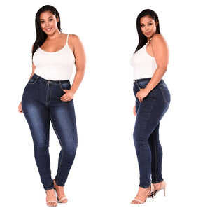 Casual Stretch Jeans Women's High Waist