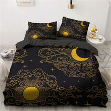 Load image into Gallery viewer, 3D Black Bedding Sets Duvet Quilt Cover Set