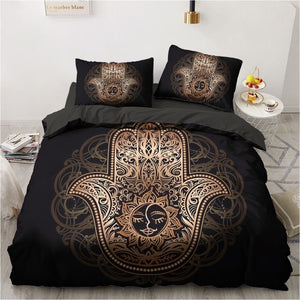 3D Black Bedding Sets Duvet Quilt Cover Set