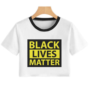 BLACK LIVES MATTER Crop Top Sexy T Shirt Women