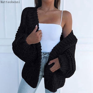 Pink Knitted Sweater Women Autumn Female Casual Long Sleeve