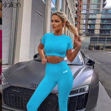 Load image into Gallery viewer, KLALIEN fitness tracksuit women active wear