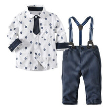 Load image into Gallery viewer, long sleeved Shirts gentlemen autumn winter children's 3pcs set
