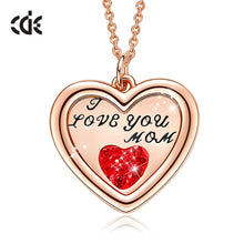 Load image into Gallery viewer, Luxury Necklace with Crystal from Swarovski Heart Pendant