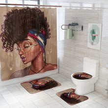 Load image into Gallery viewer, African American Women Fabric Shower Curtain Set