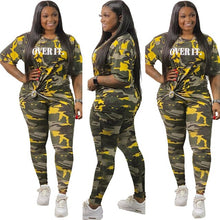 Load image into Gallery viewer, Over It Camo Two Piece Set