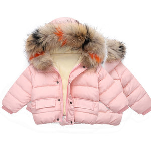 Baby Bubble Coat W/ Fur Hood