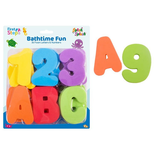 foam letters and numbers