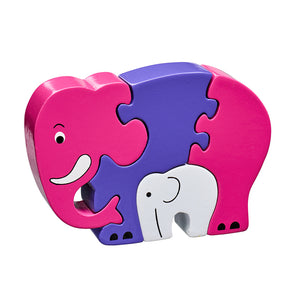 Pink Elephant and Baby Jigsaw