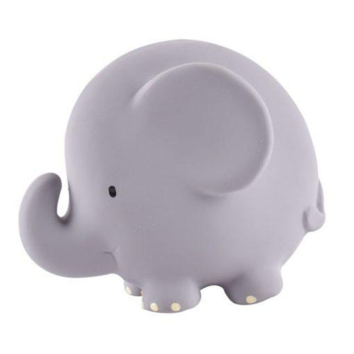 elephant rattle natural material teether