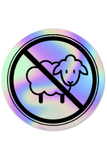 No Sheep Holographic Sticker