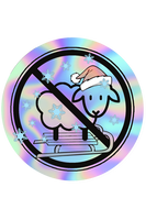 Let It Snow No Sheep Holographic Sticker