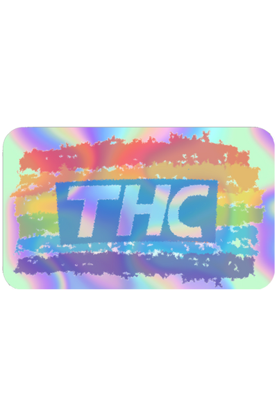 THC Rainbow Holographic Sticker
