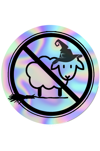 LIMITED EDITION Halloween No Sheep Holographic Sticker