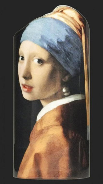 Silhouette d'art Vase by John Beswick - Vermeer - Girl with Pearl Earring SDA13