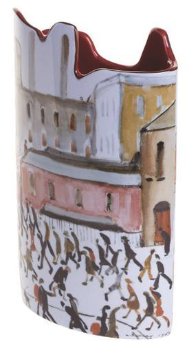 Silhouette d'art Vase by John Beswick - Lowry Going to Work SDA35
