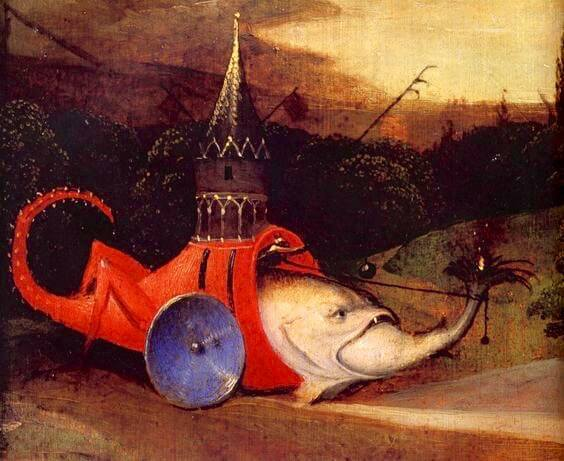 Hieronymus Bosch - Fish with Castle Tower JB03