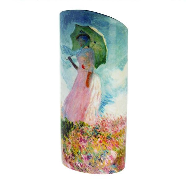 Silhouette d'art Vase by John Beswick - Monet Vase - Woman with a Parasol SDA38