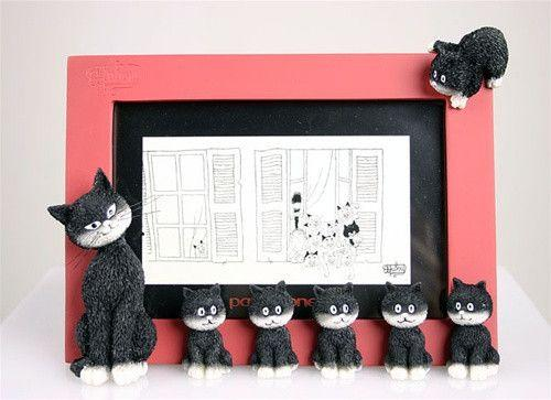 Dubout Cats Photo Frame - Cats in a Row DUB40