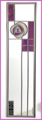 Rennie Mackintosh Mirror - Rose and Lattice - Purple Passion
