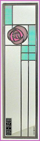 Rennie Mackintosh Mirror - Rose and Lattice - Pink