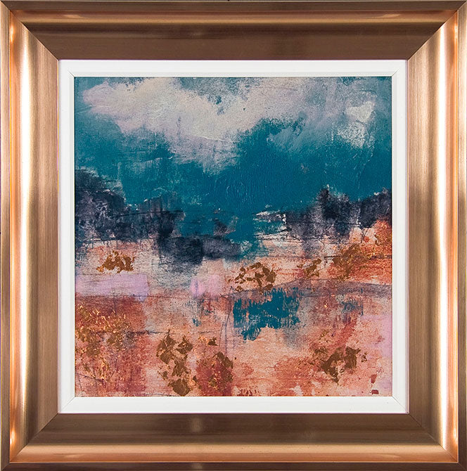 Teal Sky Framed Art