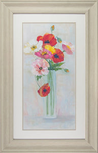 Confetti Poppies Framed Art