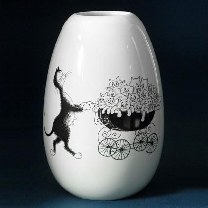 Dubout Cats Vase - The Pram DUB107