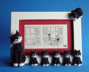 Dubout Cats Photo Frame - Cats in a Row DUB39