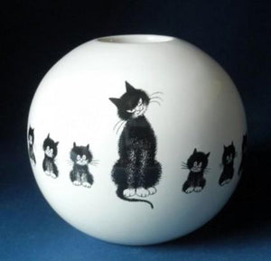 Dubout Cats Vase - Cats in a Row DUB104