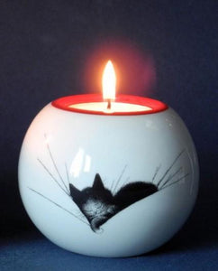 Dubout Cats Tea Light - Cat Nap DUB110