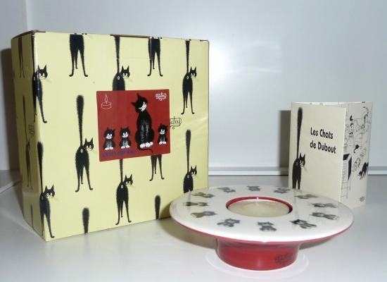 Dubout Cats Tea Light - Cats in a Row DUB116