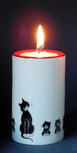 Dubout Cats Tea Light - Cats in a Row DUB113