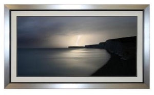 Costal Lightning - Framed Art