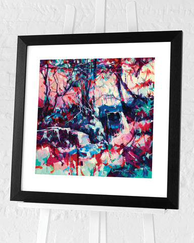 Scowles at Puzzlewood by Doug Eaton - Framed Art