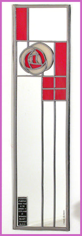 Rennie Mackintosh Mirror - Rose and Lattice - Red