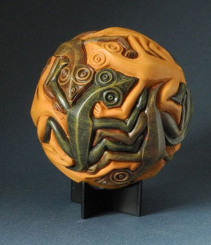 Sphere with Reptiles by Escher Statue ESC06