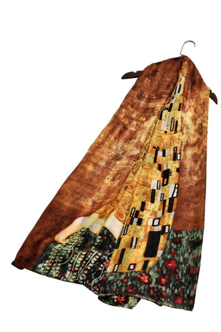 Klimt The Kiss Print  Scarf
