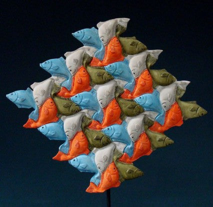 Fish by Escher Statue ESC01