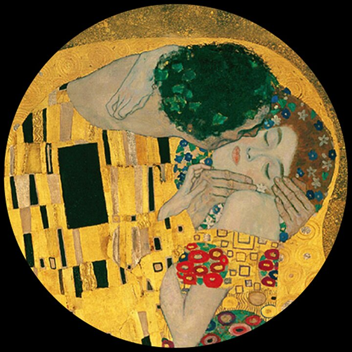 Glass Paperweight - Klimt - The Kiss PKL1